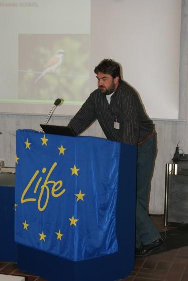 LIFE+ Erste Ergebnisse am 12.05.2010 in Bad Boll - <br />Dr. Jürgen Deuschle, ARGE Streuobst stellt das Leitbild vor
