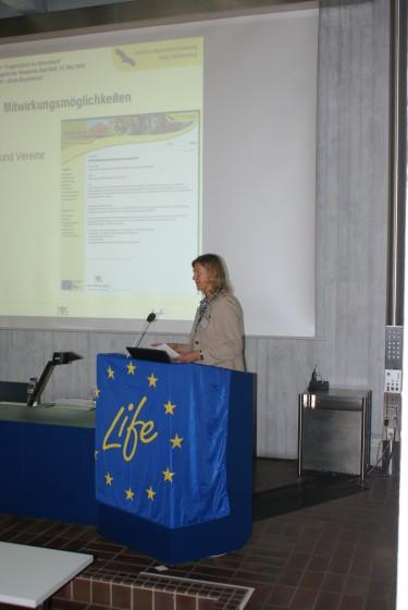 LIFE+ Erste Ergebnisse am 12.05.2010 in Bad Boll - <br />Heike Seehofer gibt einen Überblick über das Gesamtprojekt